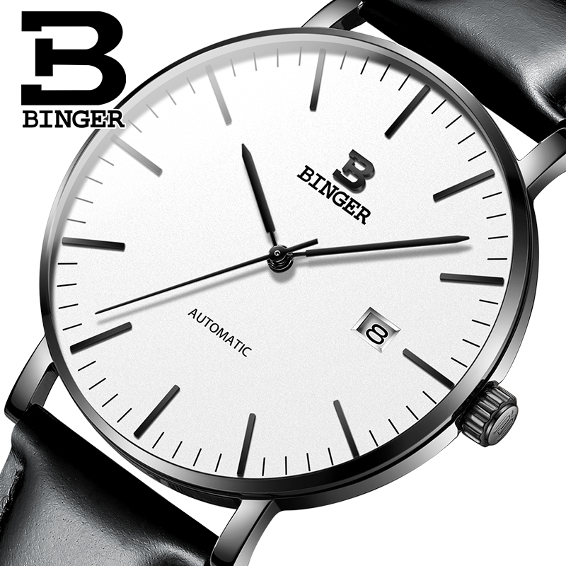 Switzerland BINGER Mens Watches Luxury Brand automatic mechanical Men Watch Sapphire Male Japan Movement reloj hombre B-5081M-15 switzerland binger watch men 2017 luxury brand automatic mechanical men s watches sapphire wristwatch male reloj hombre b1176g 6
