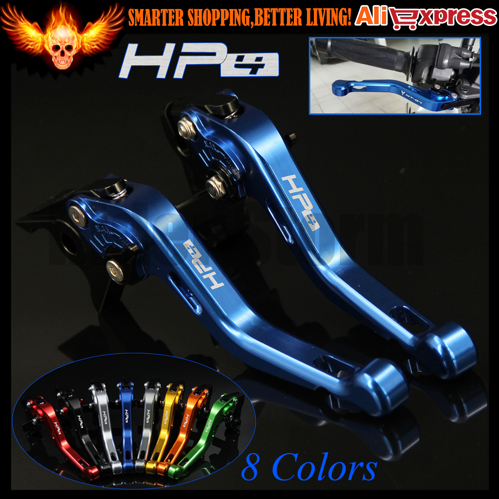 ФОТО New Laser Logo (HP4) Blue 8 Colors CNC Aluminum Motorcycle Short Brake Clutch Levers For BMW HP4 2010 2011 2012 2013 2014