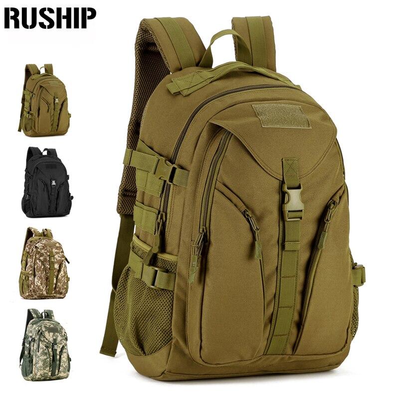 RUSHIP 40L New Durable Nylon Adjustable Camp Hike Shoulder Bag Military Travel Backpack Molle System outdoor sport caden m3 outdoor travel nylon shoulder bag for canon slr