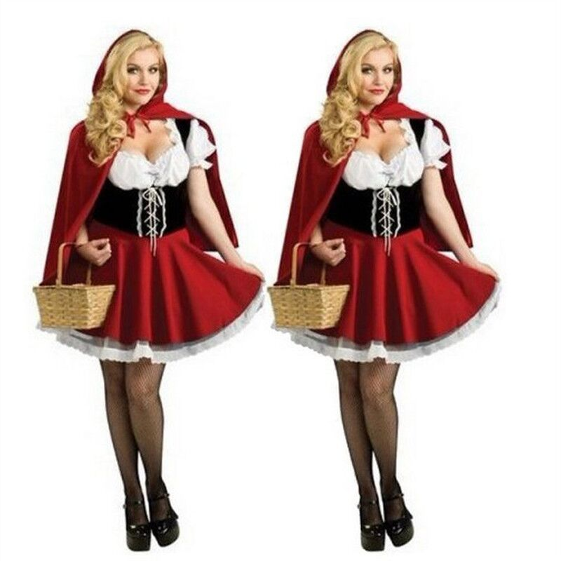 CFYH 2018 Hot Sexy Dres Plus Size S-6XL Costume Adult Little Red Riding Hood Costume Halloween Cosplay Costumes For Women