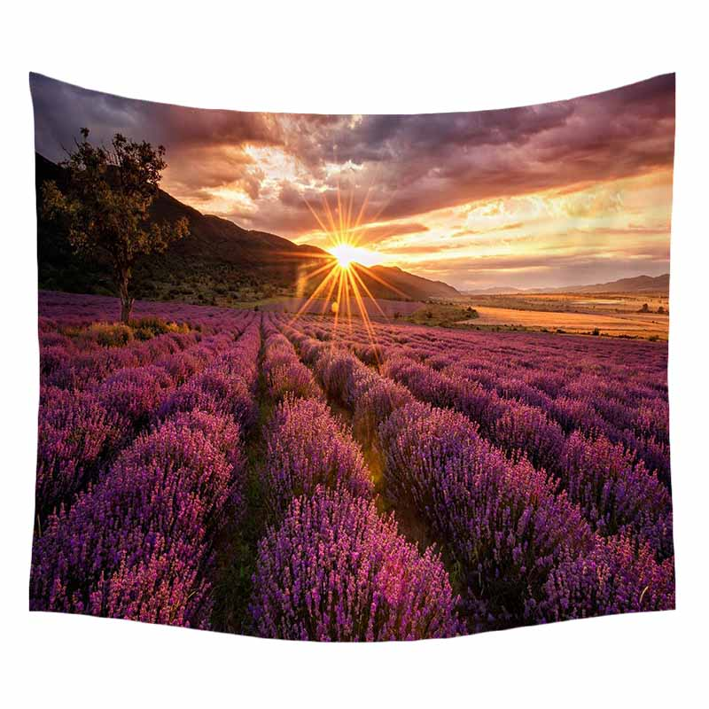 Homing Beautiful Magical Tree of Life Scenic Pattern Polyester Tapestry Durable Wall Hanging Gobelin Bedding Home Decor Crafts