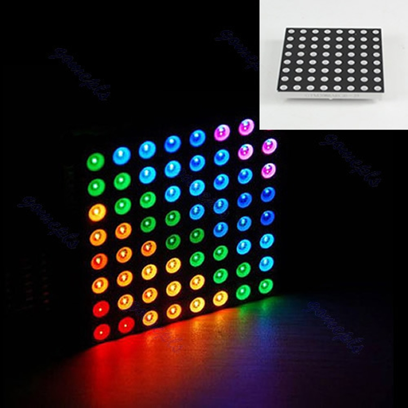 RGB LED Matrix 8x8 Full Color Dot Square Display 60x60mm Common Anode For Arduino