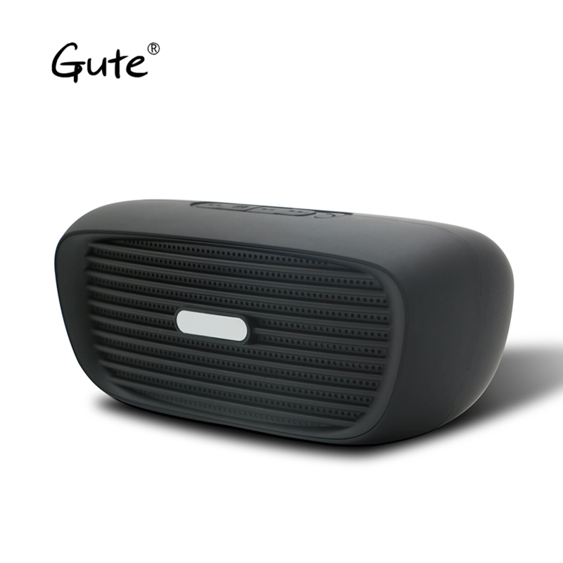 Gute new mini car automobile tailpipes model Bluetooth speaker portable active woofer FM radio caixa de som alto falante xl mon