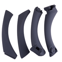 beler 4 pcs Black Plastic & Metal Left & Right Inner Door Panel Handle & Pull Trim Cover Fit for BMW E90 3 Series Sedan Wagon