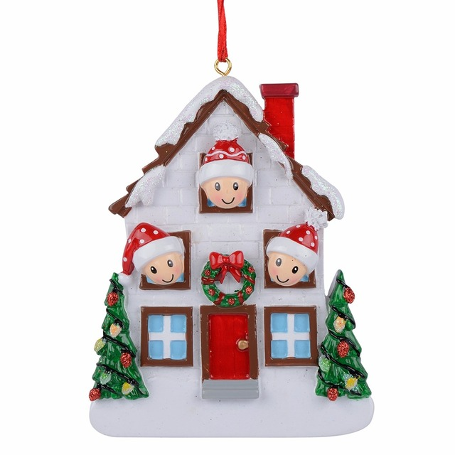 US $12 49 |Wholesale Resin Bear Family Of 3 Christmas Ornament Personalized  Gift Write Your Own Name For Holiday Home Decor Miniature Craft-in