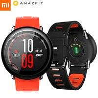 Английская версия! Оригинальный Xiaomi Huami часы AMAZFIT темп спортивные Смарт часы циркониевой керамики монитор сердечного ритма