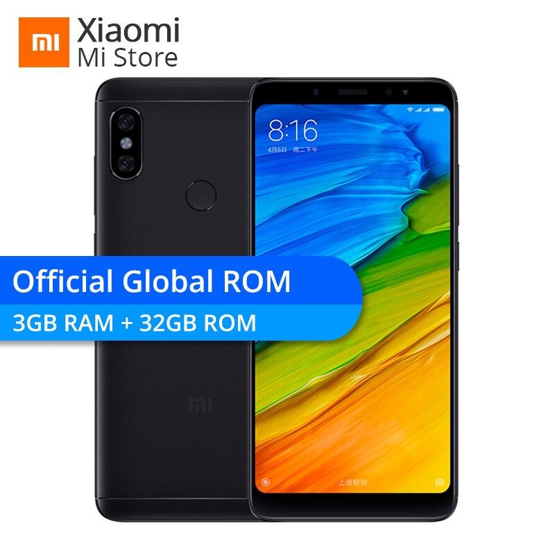 "Global Rom Xiaomi Redmi Note 5 3gb 32gb 5.99"" Full Screen Smartphone Snapdragon 636 Dual Camera 2160*1080 4000mah Ota"