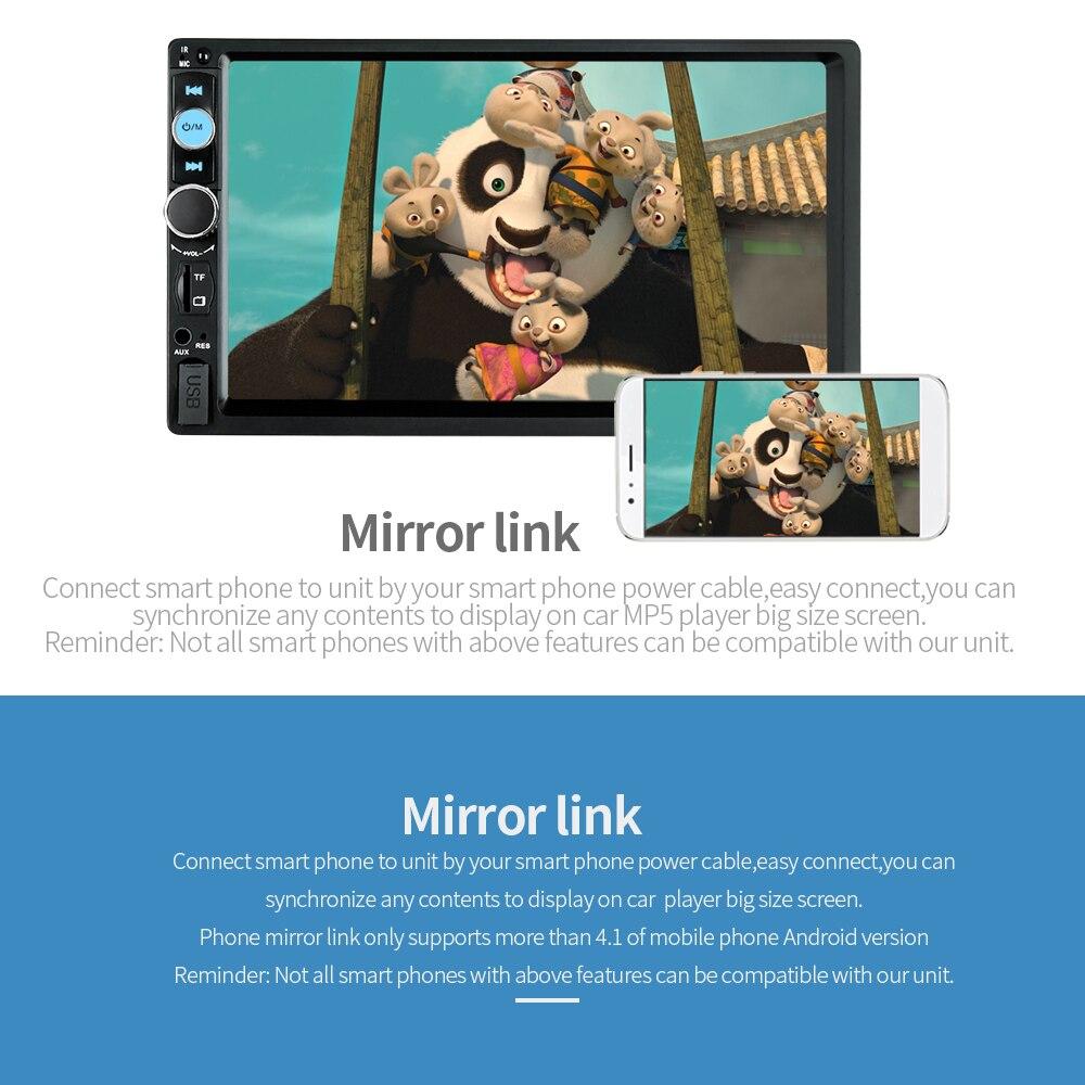 US $44 51 29% OFF|Podofo Mirror Link Car Multimedia Player 7010B Autoradio  2 Din 7