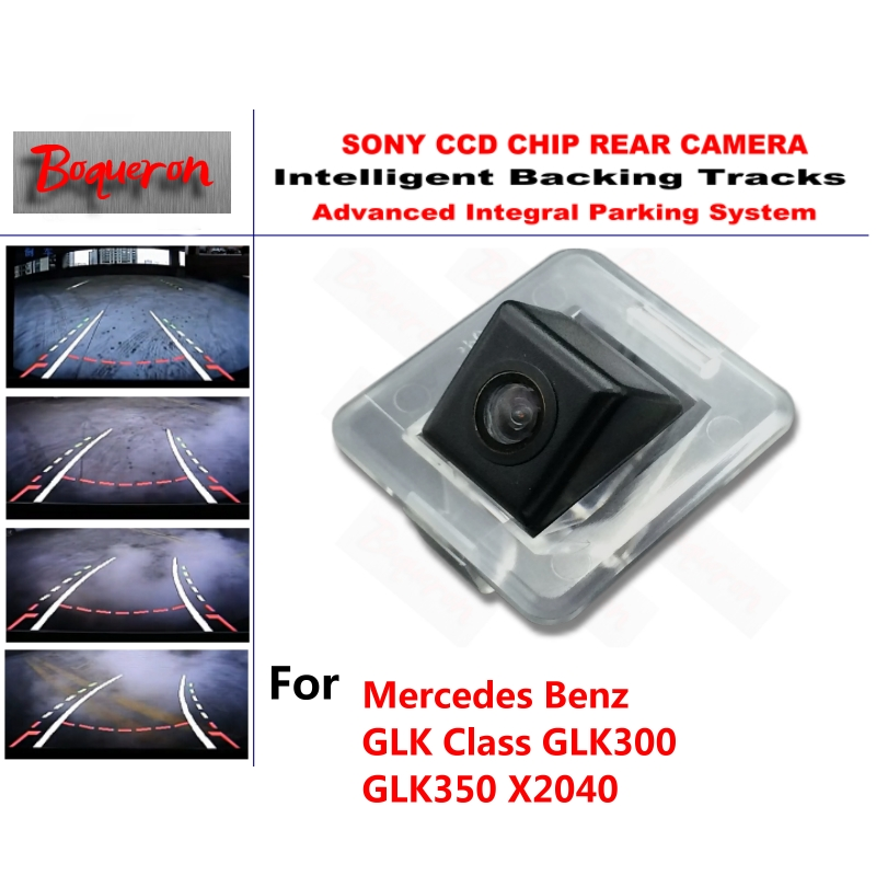 for Mercedes Benz GLK GLK300 GLK350 X204 CCD Car Backup Parking Camera Intelligent Tracks Dynamic Guidance Rear View Camera smart tracks chip camera for mercedes benz b class w246 2012 2015hd ccd intelligent dynamic parking car rear view camera