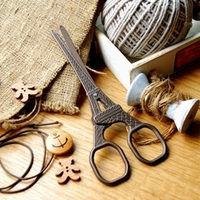 Grocery French Paris Eiffel Tower Retro Scissors DIY Handmade Antique Scissors Stitch Sewing