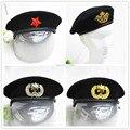 Горячая распродажа военной на открытом воздухе дышащая шерсти темно шапки с кокарда спецназовцев эскадроны смерти военная берет Hat