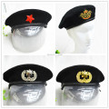 Hot Sale Military Cap Outdoor Breathable Wool Navy Caps with Cockade Special Forces Soldiers Death Squads Military Beret Hat
