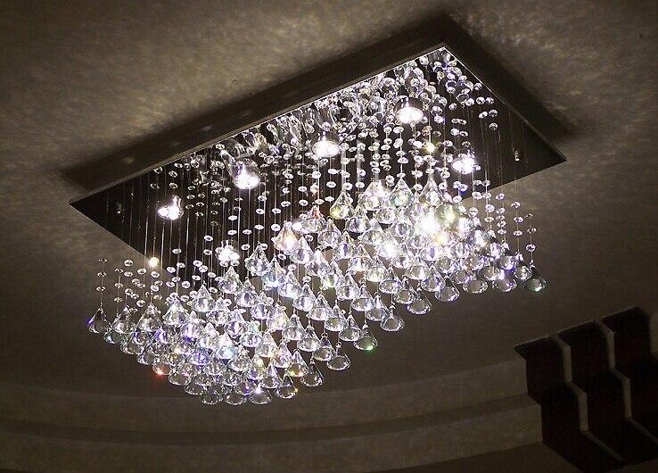 new wave design modern chandelier crystal lamp lustre living