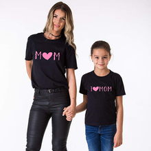 Family Matching Mother Son Daughter Love Mom Tee Shirt