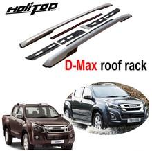 Neue ankunft für Isuzu D Max 2015 2020 dach rack dach schiene kreuz dach bar, oxidiert aluminium, installiert durch schrauben, sehr stabile