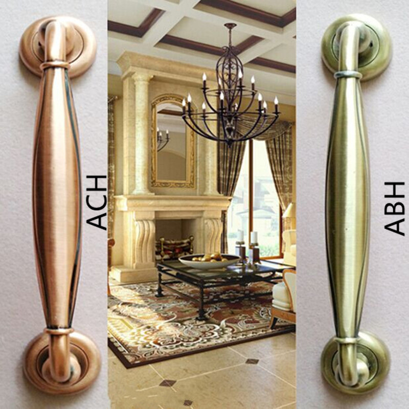 290mm Wooden,Glass Door Pulls Antique High Quality Door Handles Bronze Zinc Alloy Home Ktv Hotel Big Gate Door Pulls Handles 550mm high quality clear crystal glass big gate door handles stainless steel big gate door handle pulls wooden door pulls