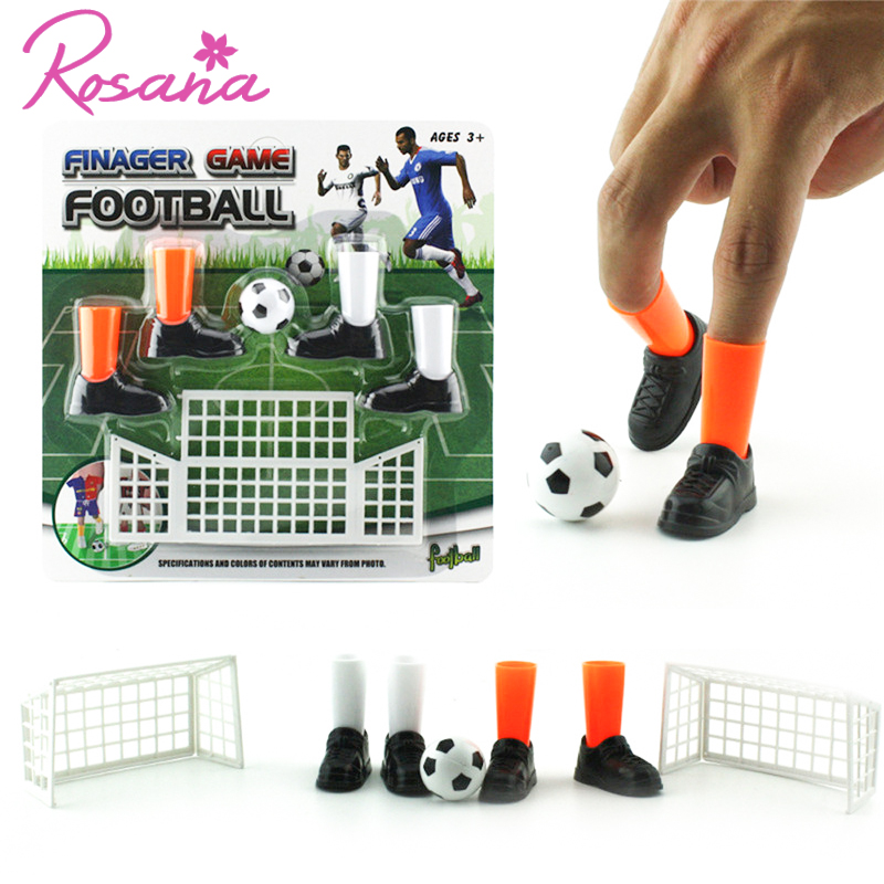 Rosana Free Ship Funny Indoor Game Finger Soccer Play Game Match Interactive Toy For Children Family Friends Party Table Games