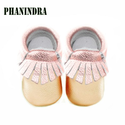 genuine leather baby moccasins fashion baby girl shoes First Walkers shine Baby Shoes
