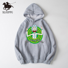 SLOUPPG 2019 Autum New Design Rick and morty Mens Hoodies Cotton Funny Print Hoodie Man Fashion Casual Sweatshirt