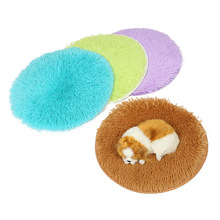 Warm Fleece Dog Bed Round Pet Lounger Cushion for Small Medium Large Dogs & Cat Winter Dog Kennel Puppy Mat Ped Bed new winter warm dog round bed soft fleece kennel for puppy pet top quality lounger cushion for small medium large dogs