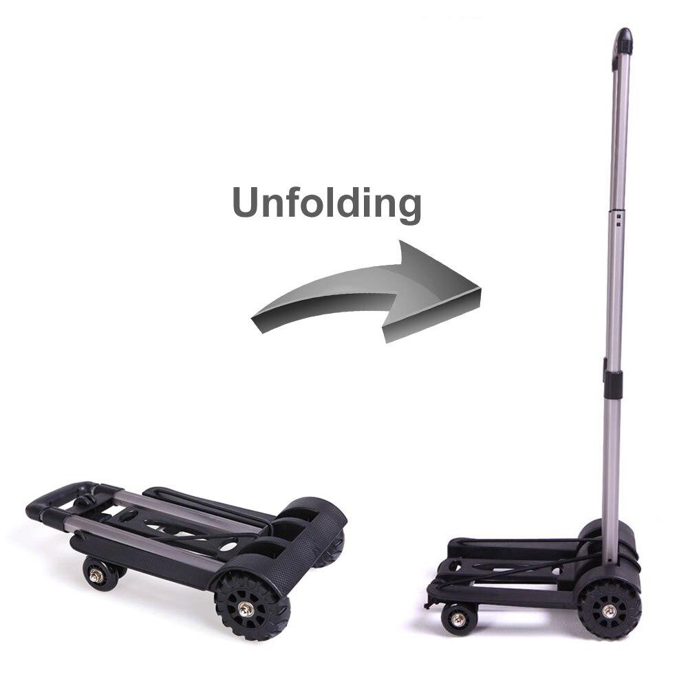 Aluminum Alloy Car Folding Luggage Cart Portable Travel Trailer Household Luggage Cart Shopping Trolley  Multan