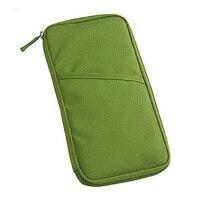Wholesale 5* Unisex Travel Pas Credit ID Card Cash Wallet Purse Holder Document Bag Handbag Zipper Makeup Organizer