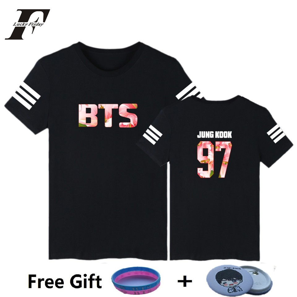 Luckyfridayf Поп БТС bangtan Обувь для мальчиков Юнг Кук jhope jin Jimin V suga BTS футболка Для женщин Футболка K- POP BTS аксессуары