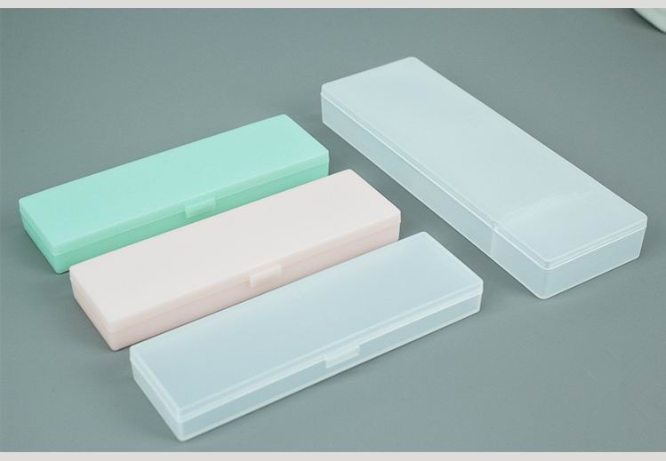 Transparent Plastic Pencil Box For Students Without Printing And Low Carbon Environmental Protection Pencil Case