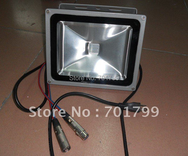 30W RGB DMX flood light,AC90-260V input;can be controlled by dmx controller directly;size;285*235*160mm