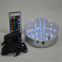 6 Inch Hookah LED Art Light Base With Wireless Remote Control Rechargable Centerpiece LED Light