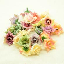 Têtes de roses artificielles en soie, 30 pièces, 5cm, fausses fleurs, bon marché pour un mariage, accessoires de décoration de maison, cadeau de noël, diy, faux plastique