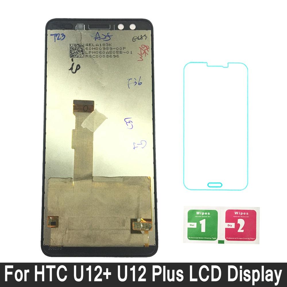 LCD Display For HTC U12+ U12 Plus Touch Digitizer Screen Assembly For HTC U12+ U12 Plus Display Replacement PartsLCD Display For HTC U12+ U12 Plus Touch Digitizer Screen Assembly For HTC U12+ U12 Plus Display Replacement Parts
