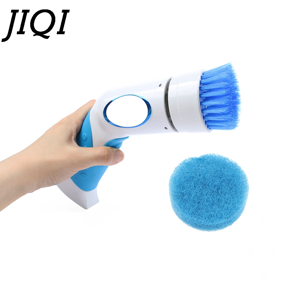 цена JIQI Hand Held Electric Dishwasher Mini Dishes Washing Machine Kitchen Bowl Cleaning dishwashing Bath Cleaner Replaceable Brush