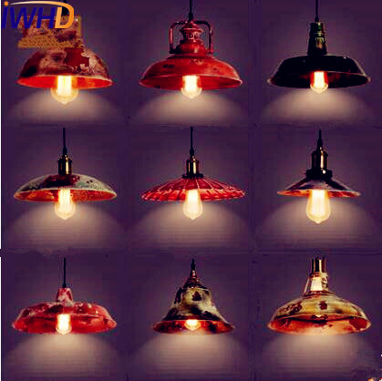 IWHD Retro Loft Style Industrial Pendant Lighting Fixtures Bar Dinning Room Vintage Pendant Light Hanging Lamp Lampe встраиваемая вытяжка hansa otc 6222 ih