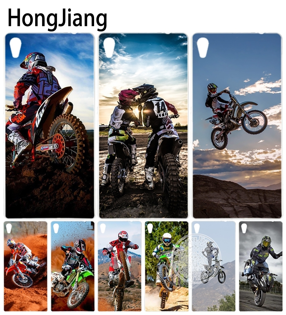 HongJiang love Motocross moto cross dirtbikes Cover <font><b>phone</b></font> <font><b>Case</b></font> for sony <font><b>xperia</b></font> C6 XA ULTRA X XP <font><b>L1</b></font> X compact XR/XZ/XZS PREMIUM