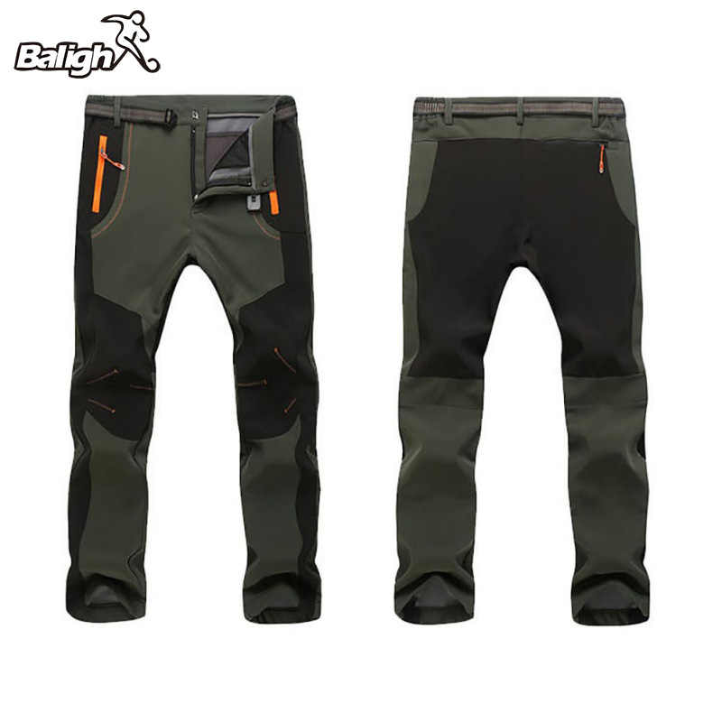 2017 New Winter Men Women Hiking Pants Outdoor Softshell Trousers Waterproof Windproof Thermal for Camping Ski Climbing