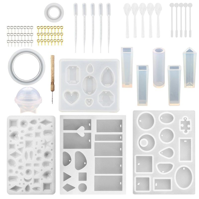 1 Set Silicone Mold DIY Epoxy Resin Tools Handmade Jewelry Making Cake Decoration Crafts Crystal Clasp Pin Mix Stick Accessories