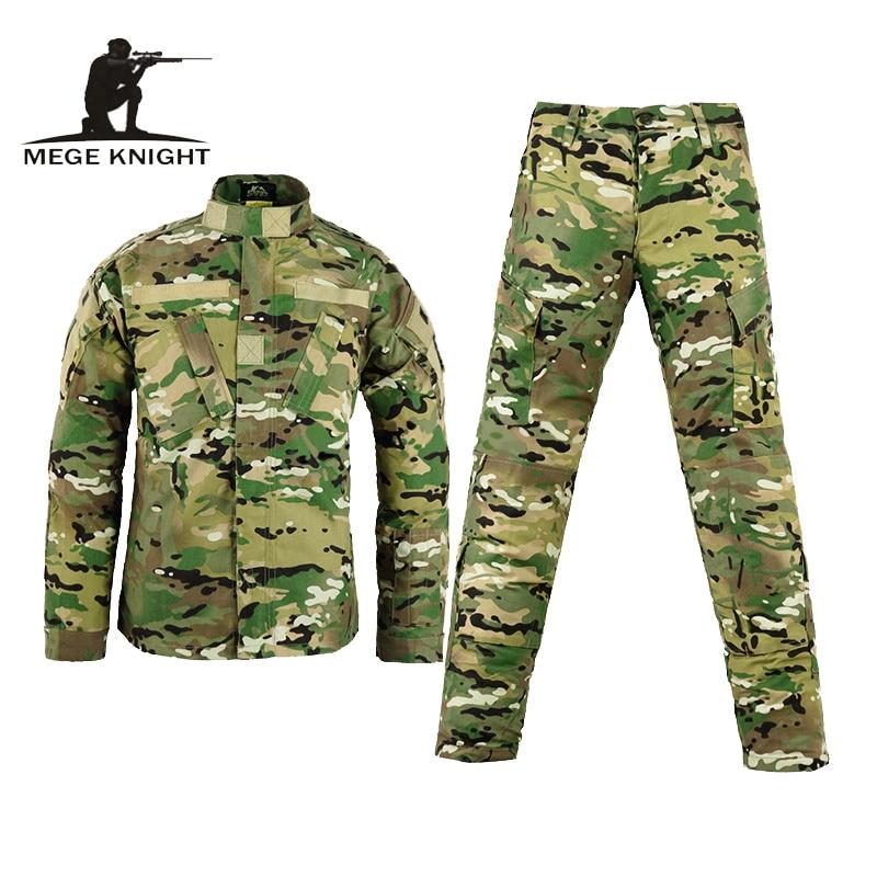 Ejército militar táctico pantalones de carga uniforme de camuflaje impermeable táctico militar bdu uniforme de combate us ejército hombres ropa conjunto