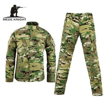 Army military tactical cargo pants uniform waterproof camouflage tactical military bdu combat uniform us army men clothing set predator concrete jungle figure