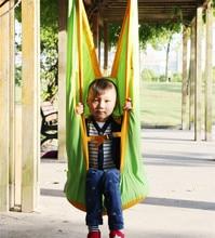 Novo estilo de jardim ao ar livre crianças rede pátio portátil criança pendurado pátio balanços cadeira assento