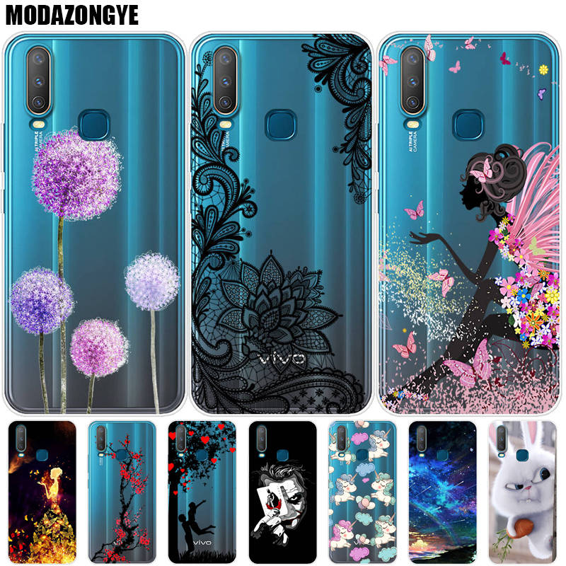 <font><b>Case</b></font> <font><b>VIVO</b></font> <font><b>Y15</b></font> Phone <font><b>Case</b></font> <font><b>Vivo</b></font> Y12 Cover <font><b>VIVO</b></font> <font><b>Y15</b></font> Y12 Y17 1902 Y 15 12 17 VIVOY15 2019 <font><b>Case</b></font> Silicone Soft TPU Back Cover image