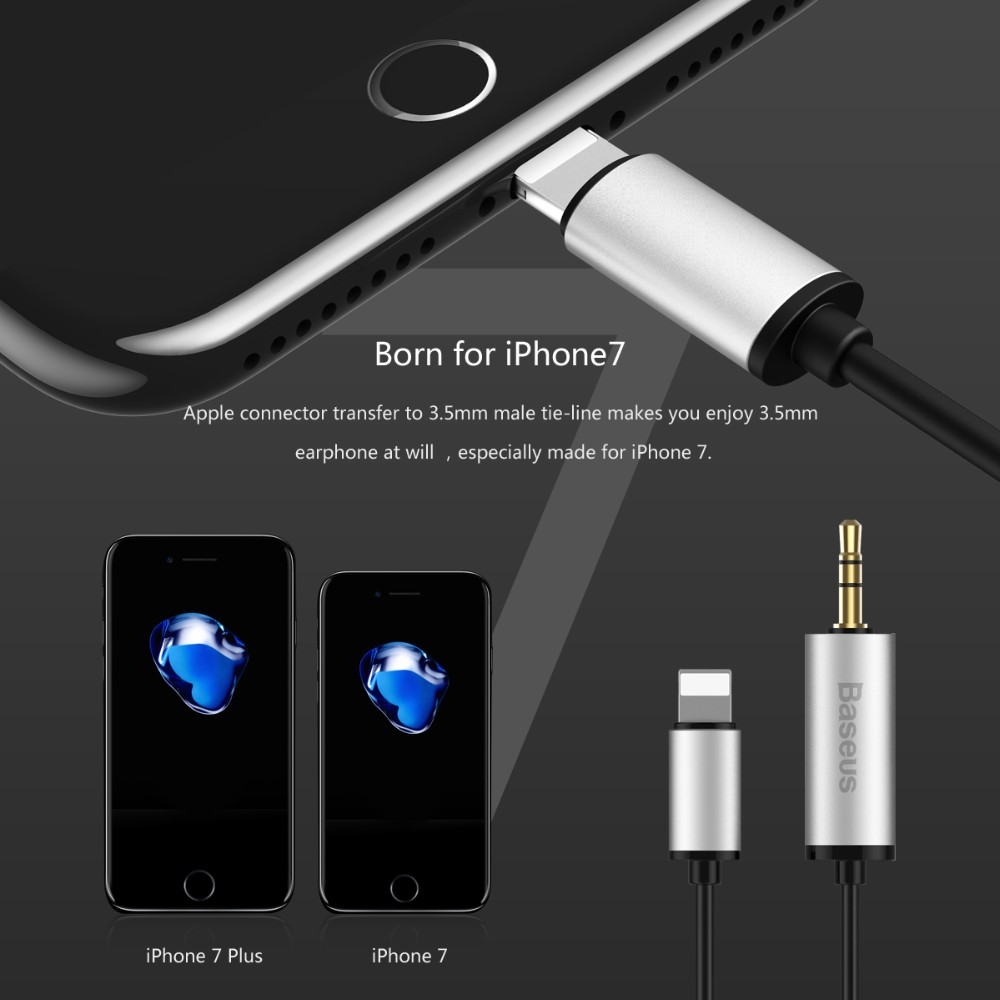 Lightning To 3 5mm Male: Baseus Lightning To Apple Transfer 3.5mm Male Audio Cable