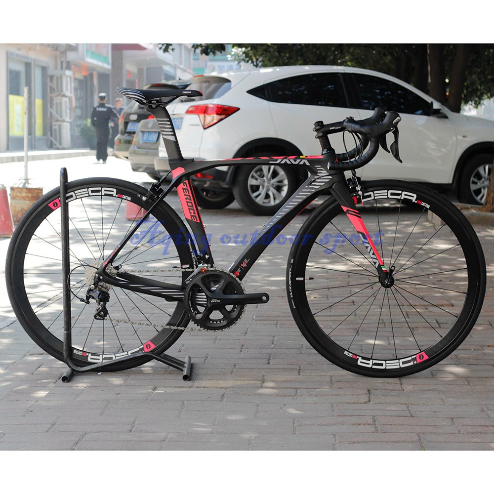 JAVA Feroce Carbon 700C Road Bike with 105 5800 Full Group Aluminium Wheels 22 speed Capiler Brake Racing Bicycle central park