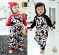 Baby infant Romper Cartoon climb clothes cartoon lint cotton long sleeve Romper children clothes