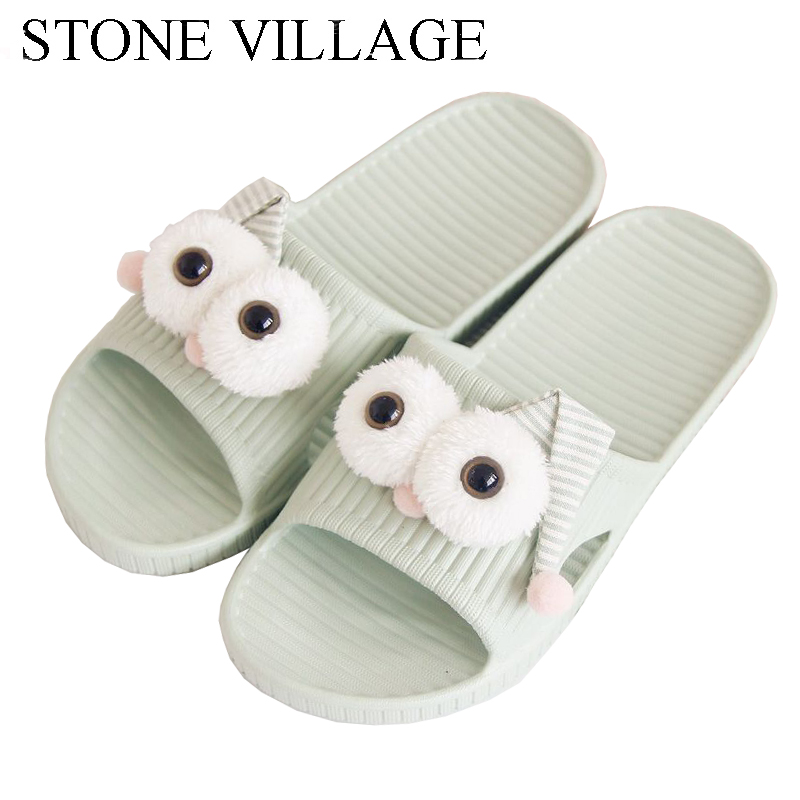 Cute Cartoon Summer Bath Home Slippers Non-Slip Shower Soft Indoor Shoes Thick Bottom Women Slippers Flat Slides Men Slippers women floral home slippers cartoon flower home shoes non slip soft hemp slippers indoor bedroom loves couple floor shoes