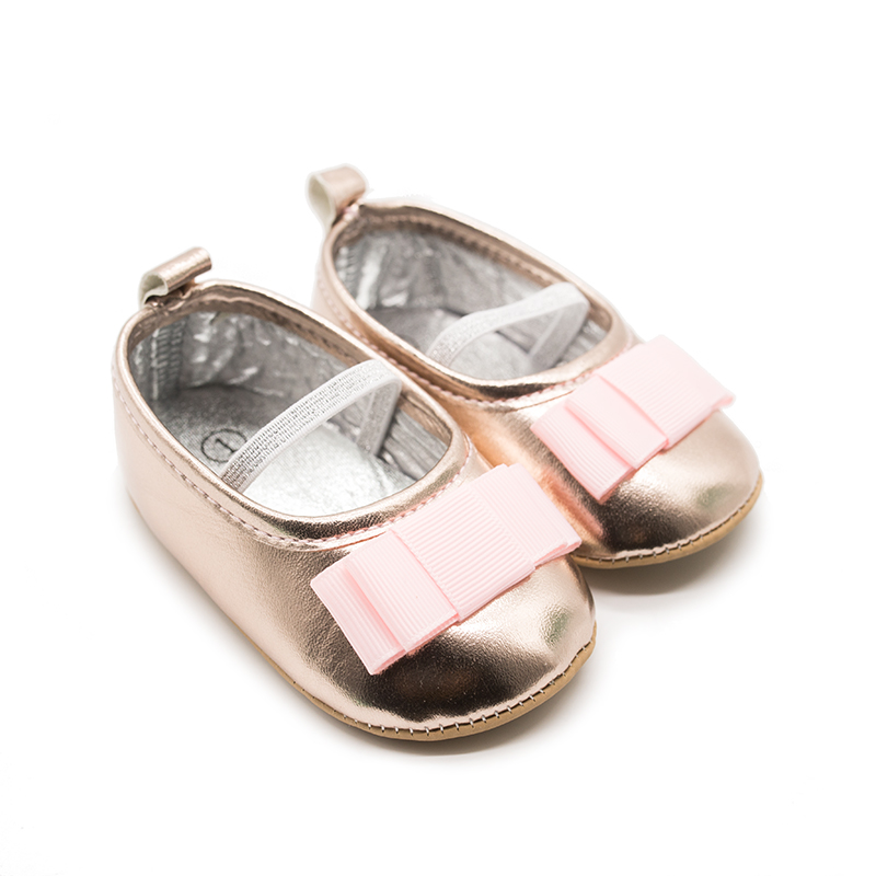 Firstwalkers Cute Pink Bow Gold Infant Shoes Baby Girl Toddler Moccasins Baby Schoenen Slofjes Scarpe Neonata Chaussure Fille