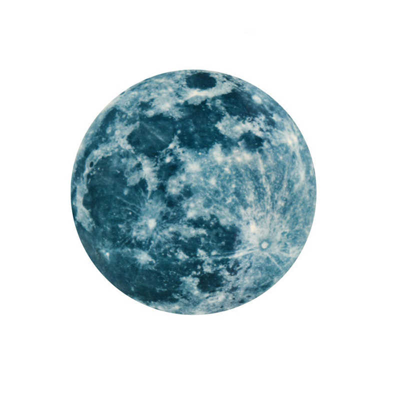 เรืองแสงวอลล์เปเปอร์ 30 cm Luminous Moon DIY 3D เรืองแสงสติ๊กเกอร์ติดผนังห้องนอนเด็กเรืองแสงภาพจิตรกรรมฝาผนัง Dark อุปกรณ์เสริม