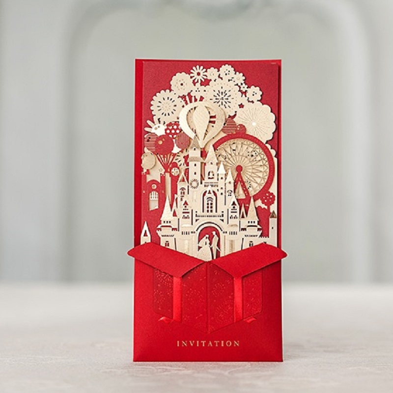 2017 New Brand Quality White Elegant Flower Laser Cut Wedding Invitations With Rsvp Card Party Supplies