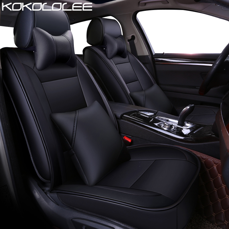 KOKOLOLEE pu leather car seat cover for Ford Taurus Mondeo Focus RT Escort Explorer F-150 Mustang Edge fiesta kuga car-styling