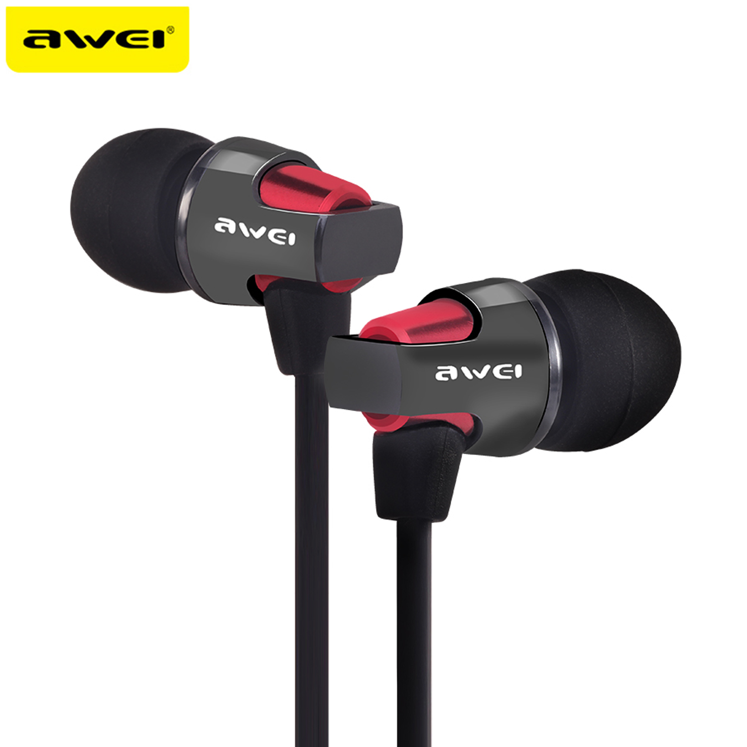 AWEI ES-860HI Super Bass Sound Headphones Stereo Earphones Metal Headset In-Ear fone de ouvido Auriculares Kulaklik For Phones